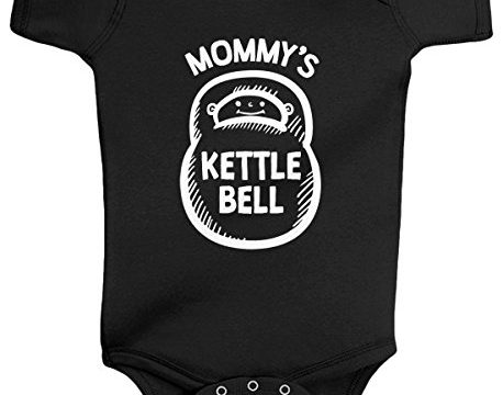 Threadrock Baby Boys' Mommy's Kettlebell Infant Bodysuit 6 Months Black