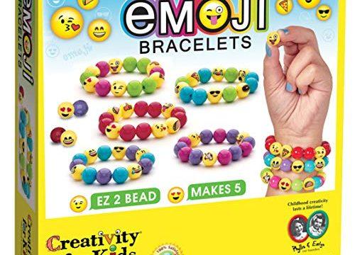 Creativity for Kids Emoji Bracelets – Makes 5 Emoji Bead Bracelets – Emojis for Kids