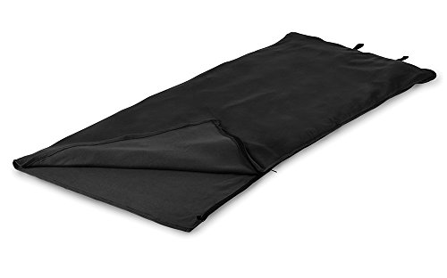 Stansport Fleece Sleeping Bag, Black, 32″ x 75″