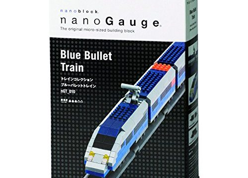 Nanoblock Bullet Train Building Blocks Kit 330 Piece, Blue