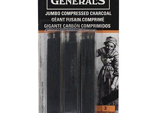 General Pencil 960ABP GENERALS JUMBO CHARCOAL 3 ASST STK Multicolor