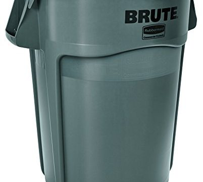 RCP264360GRA – Rubbermaid BRUTE 44-Gallon Utility Container, Gray
