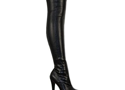 Fashion Thirsty Womens Mens Unisex Over Knee Thigh High Heel Stretch Faux Leather Suede Boots Shoes Size 13