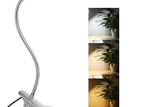10W LED Clip on Lamp, Desk Light with 3 Color Mode 2M Cable Dimmer 10 Levels Clamp Table Lights
