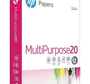 HP Multipurpose Paper, 8-1/2 x 11 Inches, 96 Bright, 500 Sheets/Ream 112000