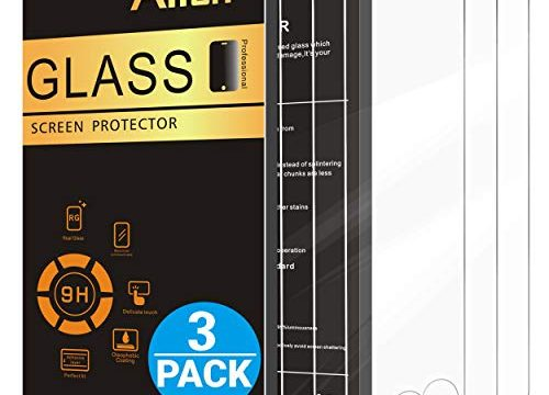 AILUN Screen Protector Compatible with iPhone 6 plus/6s Plus,3 Pack 0.33mm 2.5D Edge Tempered Glass,Anti-Scratches,Case Friendly,Siania Retail Package
