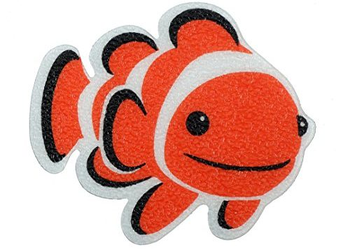SlipX Solutions Adhesive Bath Treads: Tub Tattoos Add Non-Slip Traction to Tubs, Showers & Other Slippery Spots Kid Friendly, 5 Count, Reliable Grip Clownfish