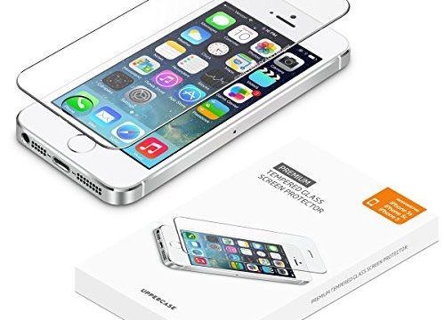 iPhone 5 5S SE Screen Protector 2 Pack, UPPERCASE Premium Tempered Glass Screen Protector for iPhone 5s, iPhone 5, iPhone 5c, iPhone SE 2 Pack