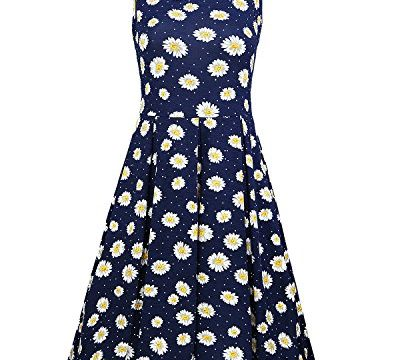 STYLEWORD Women's Sleeveless Summer Casual Floral DressFloral01,M