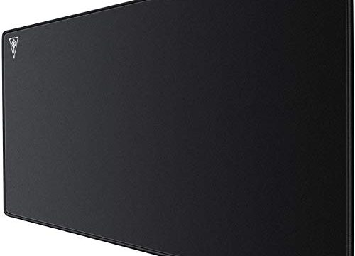 Black – AUKEY Gaming Mouse Pad Large XXL 35.4×15.75×0.15in Thick Extended Mouse Mat Non-Slip Spill-Resistant Desk Pad with Special-Textured Surface, Anti-Fray Stitched Edges for Keyboard, PC