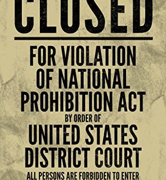 NPA National Prohibition Act Closed for Violation Sign Poster 12×18 inch