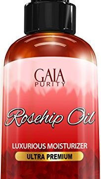 Rosehip Oil, Large 4oz – All Natural, Best Moisturizer for Face, Hair & Body to Help Heal Dry Skin, Diminish Scars, Discoloration, Acne, Wrinkles, Stretch Marks, Eczema, Skin Tags and Brittle Nails. C