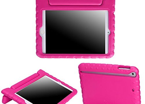 HDE Kids Case for iPad Mini 2 3 -Shock Proof Rugged Heavy Duty Impact Resistant Protective Cover Handle Stand for Apple iPad Mini 1 2 3 Retina Hot Pink