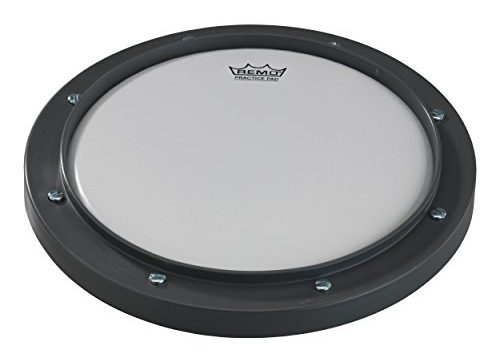 Remo RT-0010-00 10″ Gray Tunable Practice Pad with Ambassador Coated Drumhead
