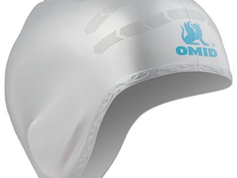 OMID Swim Cap Ear Pockets Protection, 100% Silicone Great Elasticity Durable Teenagers Unisex Adults, Ergonomic Design Long Hair Swimming Caps