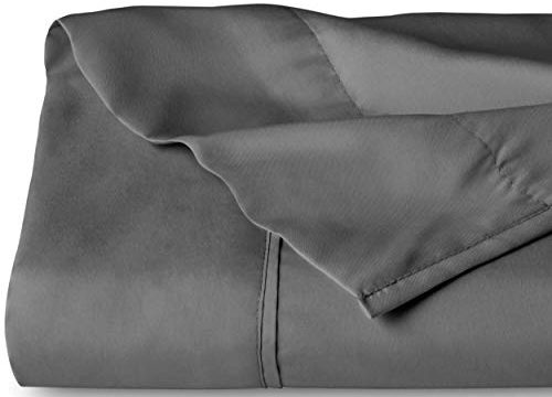 Flat Top Sheet Premium 1800 Ultra-Soft Microfiber Collection – Double Brushed, Hypoallergenic, Wrinkle Resistant, Easy Care King – 1 Pack, Grey