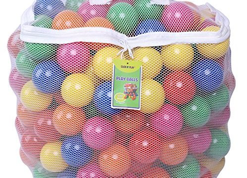 6 Bright Colors in Reusable and Durable Storage Mesh Bag with Zipper – Click N' Play Pack of 100 Phthalate Free BPA Free Crush Proof Plastic Ball, Pit Balls