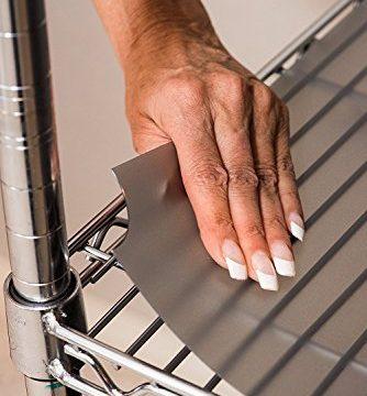 Premium Quality Graphite, 14 x 24 – Set of 3 Shelf Liners for Wire Shelf Liner, Fits Sandusky Wire Shelves