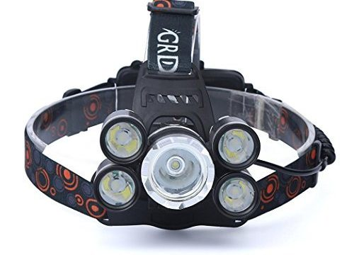 Kshion 35000LM 5x CREE XM-L T6 LED Headlamp Headlight Flashlight Head Light Lamp 18650