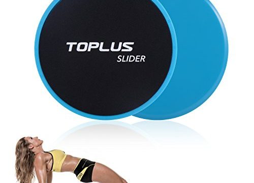TOPLUS Exercise Slider, Dual Sides Workout Slider Strength Slider Gliding Discs for Core Exercise and Full Body Workout-Abdominal Fitness Equipment Work on Any Surface. blue