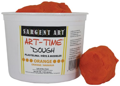 Sargent Art 85-3314 3-Pound Art-Time Dough, Orange