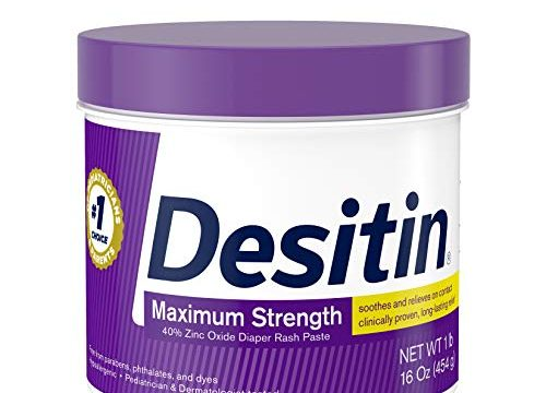 Desitin Maximum Strength Baby Diaper Rash Cream with 40% Zinc Oxide for diaper rash Relief & Prevention, 16 oz