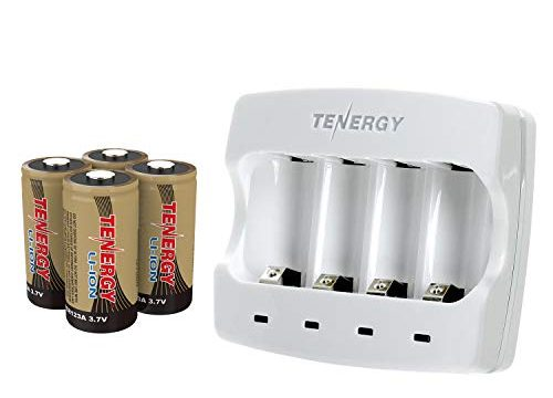 Arlo Certified: Tenergy 3.7V Arlo Battery Charger for Arlo Wireless Security Cameras VMC3030/3200/3330/3430/3530 Fast Charger with 4-Pack 650mAh Rechargeable Batteries UL UN Certified