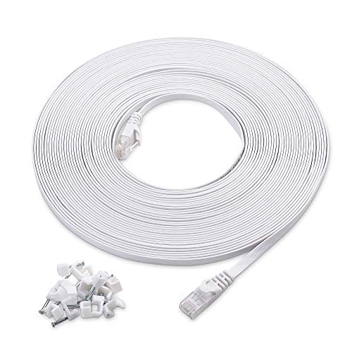 Top 10 Flat Ethernet Cable 50 ft Grey – Cat 6 Ethernet Cables