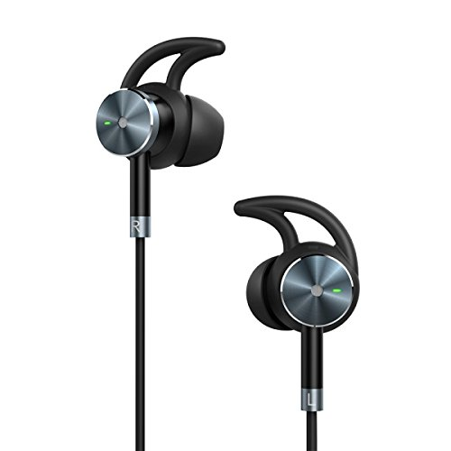 TaoTronics Active Noise Cancelling Headphones, Wired Earphones In Ear Corded Earbuds with 15 Hours Playtime and Built-in Microphone Noise Reduction, Aluminum Alloy Construction, Gold-plated Jack