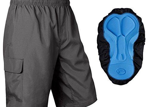 Baleaf Men's 3D Padded Mountain Bike Baggy Cargo Shorts Grey Size S