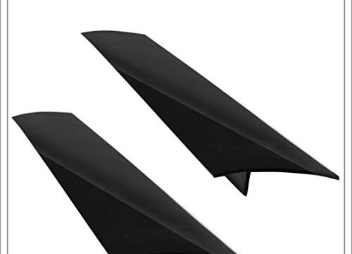 Modern Silicone Stove Counter Gap Cover by CulinArt | Set of 2 | Black Color | Great for Kitchen Stove Washing Machine Dryer Counters and More | 2 Bonus Gifts: Silicone Brush and B.B.Q Recipes eBook