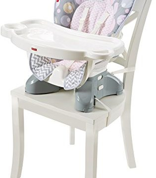 Fisher-Price SpaceSaver High Chair Seat Pad, Brilliant Blush