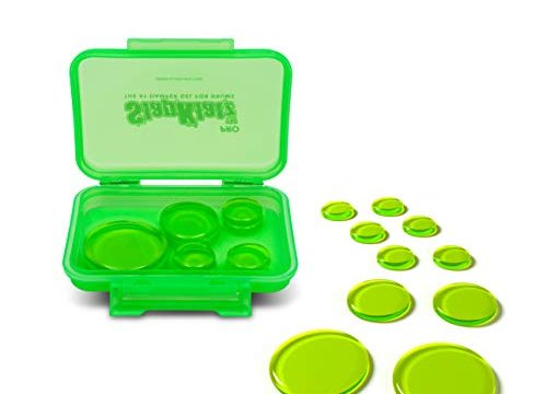 Alien Green | 10 Pieces of Superior Drum Gel Dampeners in 3 Sizes | FREE rugged case included | Non-toxic – SlapKlatz Pro