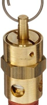 Control Devices ST Series Brass ASME Safety Valve, 150 psi Set Pressure, 1/4″ Male NPT