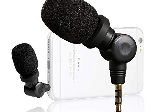 Saramonic Flexible Microphone with High Sensitivity for Apple IOS iPhone 8 7 6 iPad Podcast Vlog Youtube Livestream 3.5mm TRRS Connector