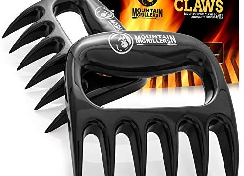 Best Pulled Pork Shredder Claw x 2 for Barbecue, Smoker, Grill Black – Perfectly Shredded Meat, These are The Meat Claws You Need – Mountain Grillers Bear Claws Meat Shredder for BBQ