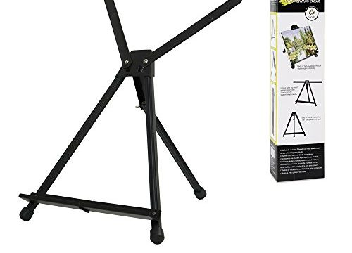 CONDA Aluminum Table Easel 1 Pack Tri-Pod Display with Rubber Feet,Black,20″ x 24″Double Arms …