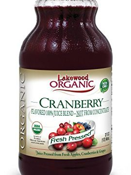 Lakewood Organic Cranberry Juice Blend, 32-Ounce Bottles Pack of 6