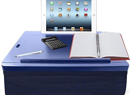 Navy w/Grey – iCozy Portable Cushion Lap Desk with Storage
