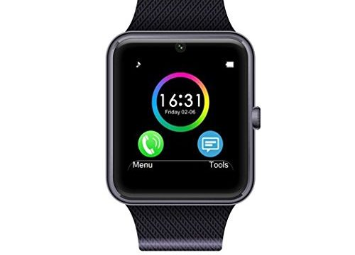 MSRM Smart Watch Phone 1.54 Inch Phone Syc Support Android 4.2 or abouve and iPhone5s/6/6s/7/7s Silver
