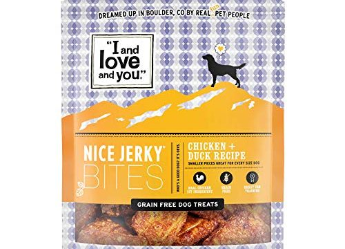"""I and love and you"" Nice Jerky Bites, Chicken + Duck Recipe, 4 Oz"