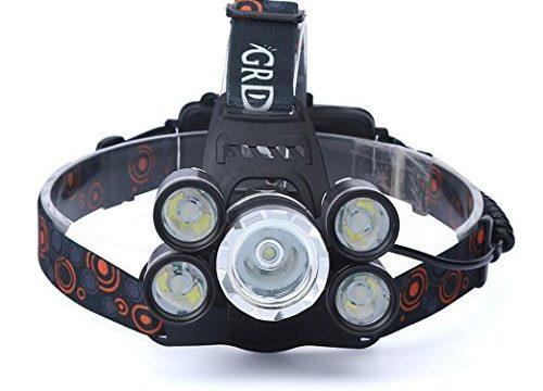 Kshion 35000LM 5x CREE XM-L T6 LED Headlamp Headlight Flashlight Head Light Lamp 18650