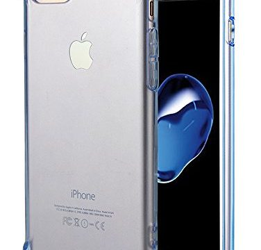 Clear Blue – for iPhone 7 Case, for iPhone 8 Case, Matone Crystal Clear Shock Absorption Technology Bumper Soft TPU Cover Case for iPhone 7 2016/iPhone 8 2017