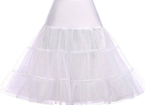 GRACE KARIN White Vintage Swing Net Petticoat Skirt Tutu Underskirt Size L