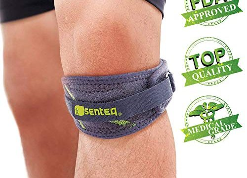 SENTEQ Knee Strap Support Brace, Medical Grade And FDA Approved, Adjustable Patella Knee Support To Prevent Pain And Tendinitis SQ1 L008
