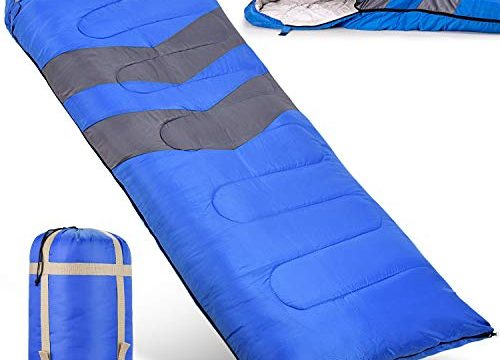 Lightweight, Waterproof, Compact with Compression Sack – For Adults, Kids and Boys – Great for 4 Season Traveling, Backpacking, Hiking, Outdoor – Sleeping Bag – Best Camping Gear and Equipment New